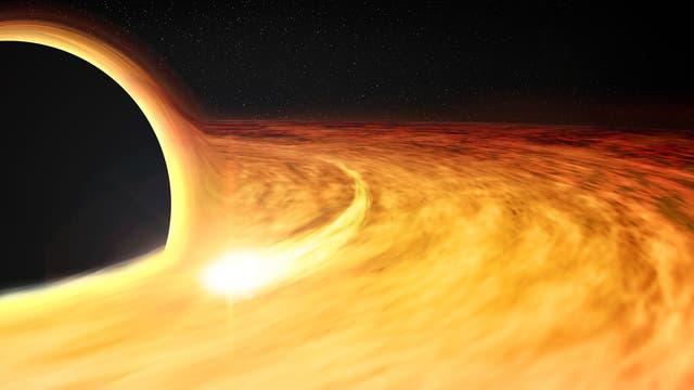 Schwarzes Loch mit Staubscheibe