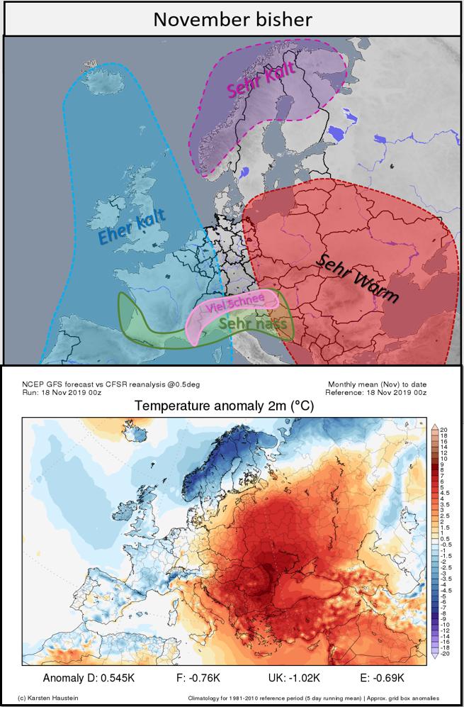Wetterbedingungen in Europa