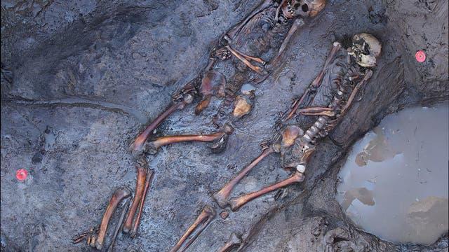 1700 Jahre alte Skelette südsibirischer Steppennomaden am archäologischen Fundplatz «Tunnug1»