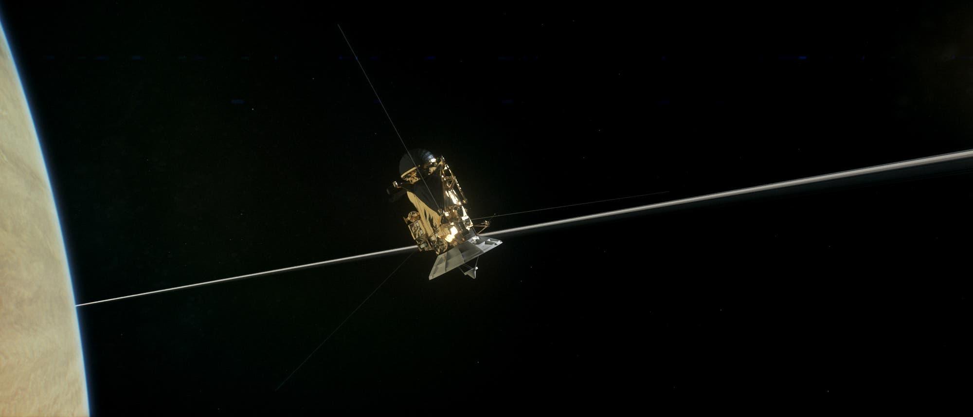 Cassini durchbricht die Ringebene
