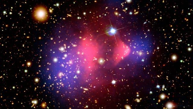 Kompositbild des Bullet-Clusters