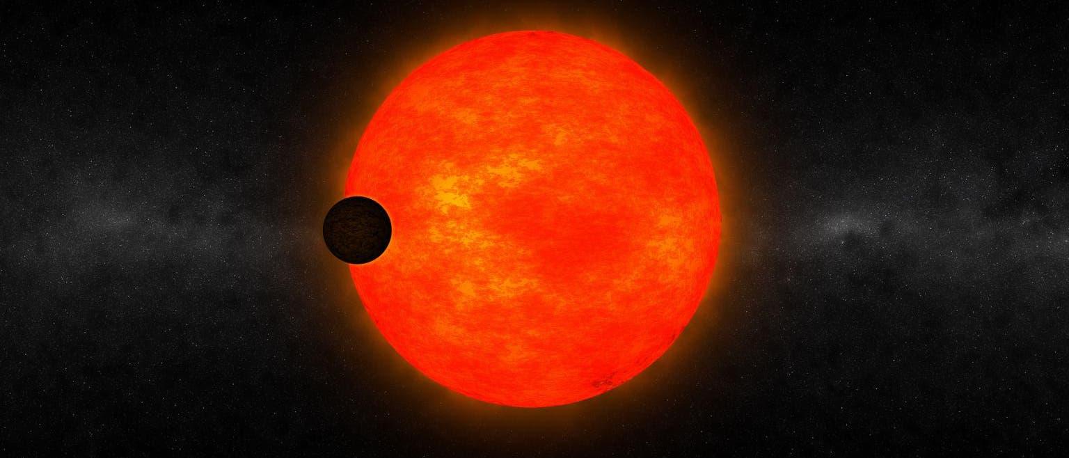 Stern HATS-6 mit Exoplanet (künstlerische Darstellung)