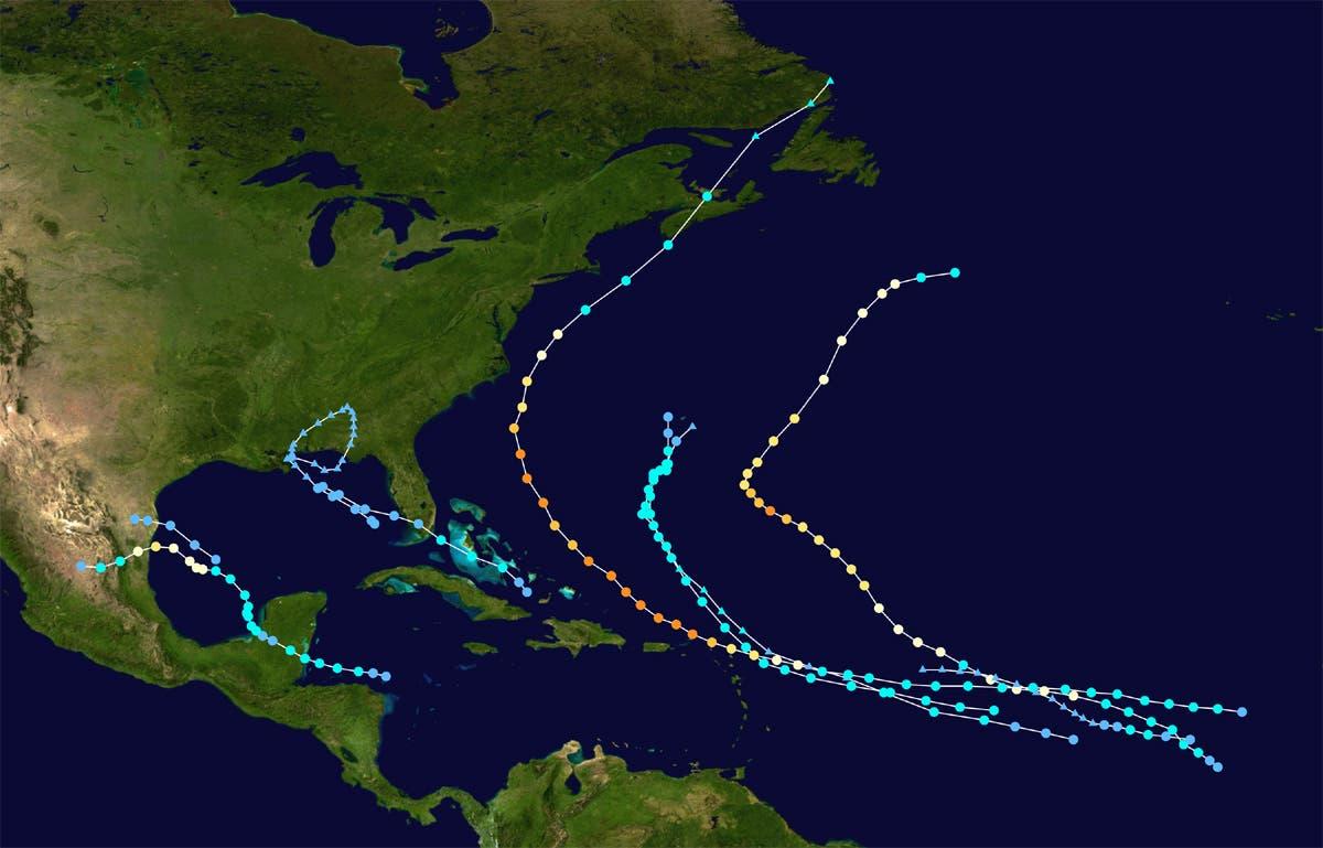 Hurrikansaison 2010 (Stand Anfang September)