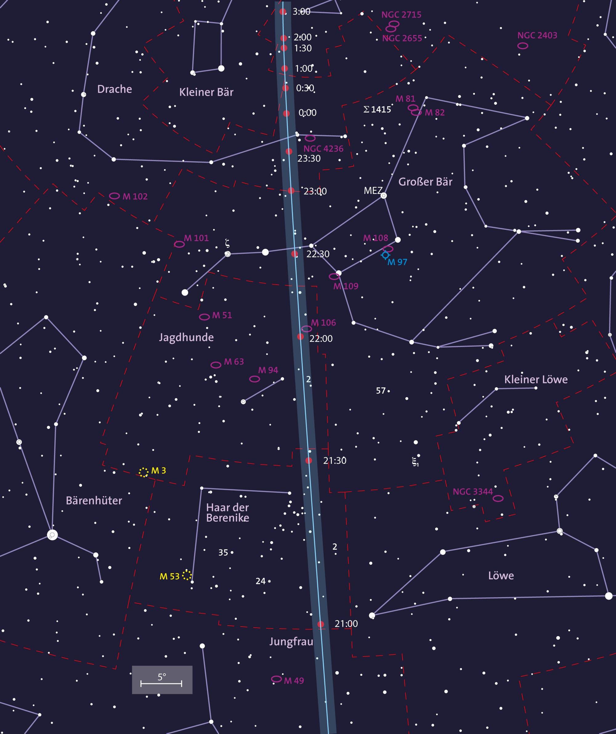 Übersichtskarte der Himmelsbahn von 2012 DA14