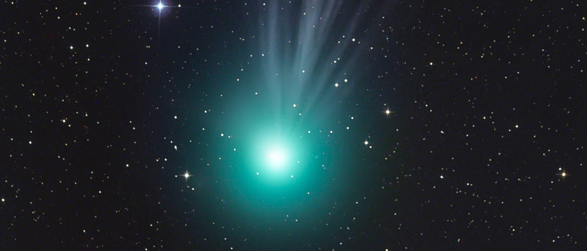 Komet C/2014Q2 Lovejoy - fotografiert zwischen zwei Wolkenlücken von Gerald Rhemann.