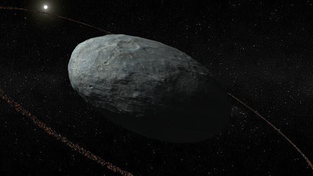 Künstlerische Darstellung von Haumea