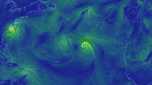 Stürme auf dem Atlantik