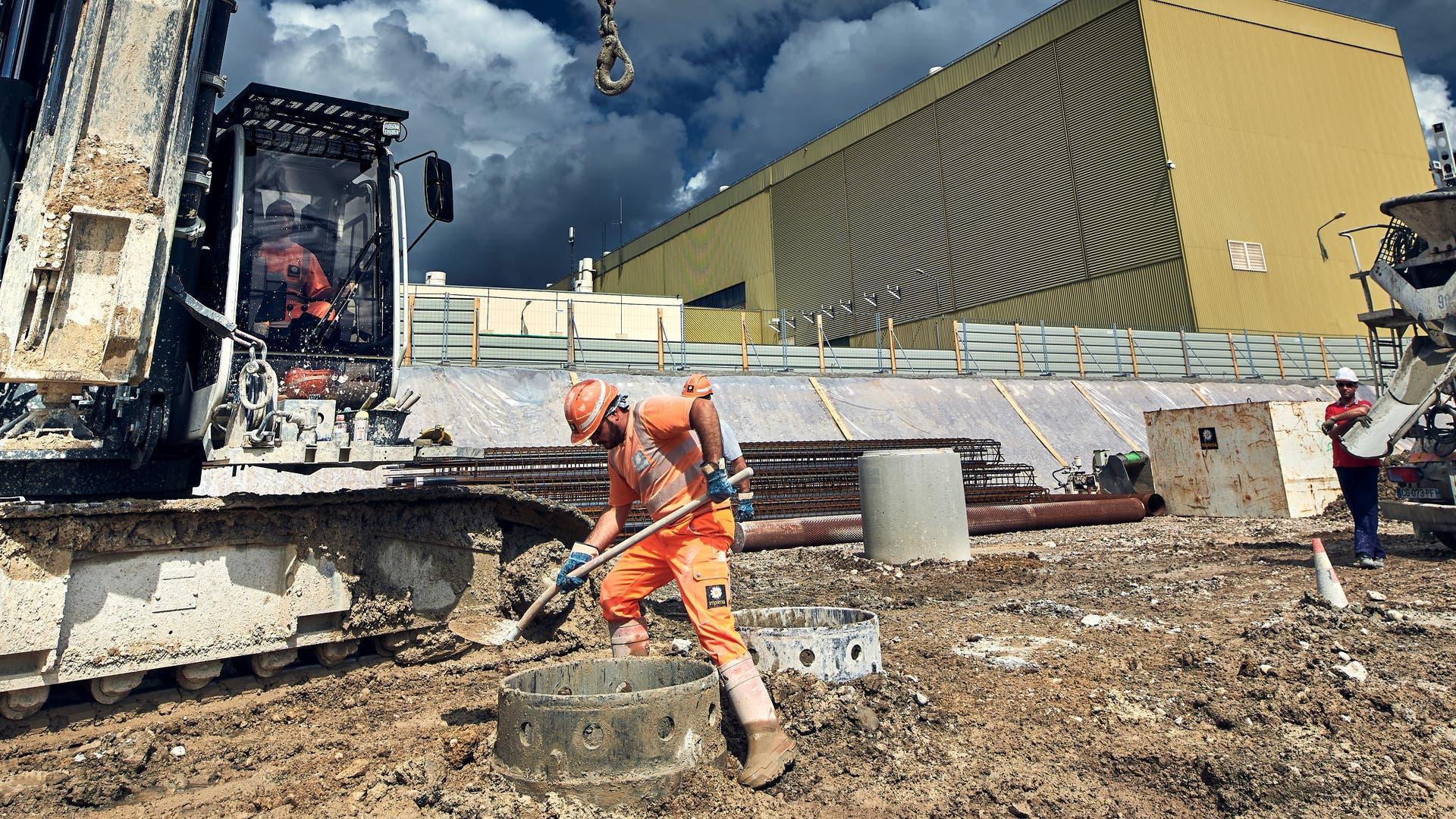 Baubarbeiten am LHC im Jahr 2018