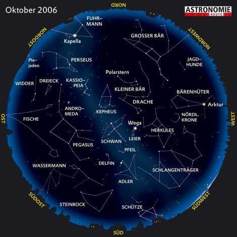 Der Sternenhimmel im Oktober 2006