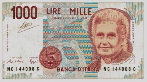 1000-Lire-Schein mit Maria Montessori