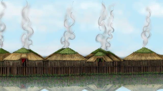 Die Ausgrabungsstätte »Must Farm«