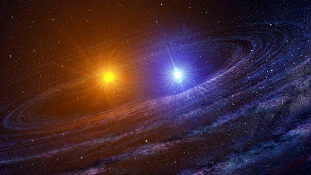 Doppelsternsystem (Symbolbild)