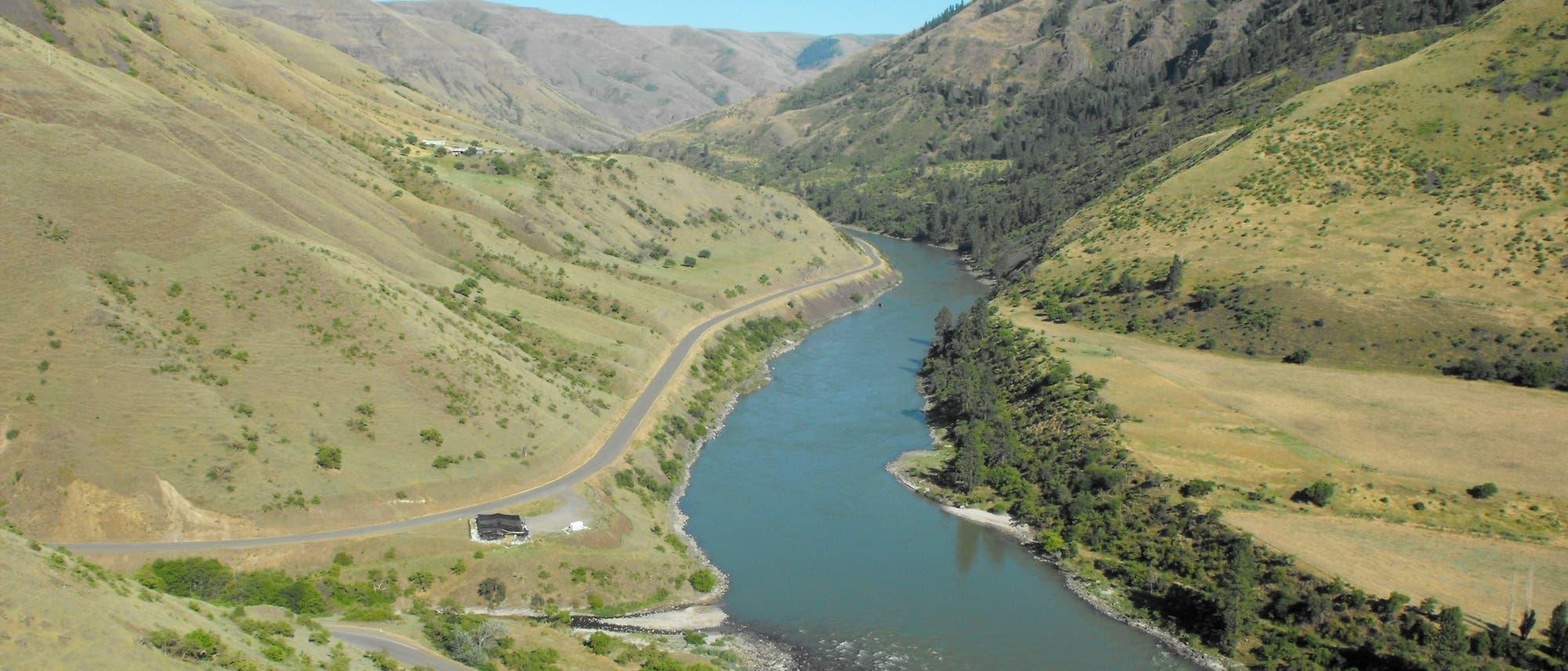 Der Fundort Cooper's Ferry am Salmon River
