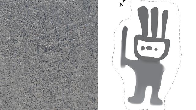 Ein Deep-Learning-System identifizierte diese Nazca-Geoglyphe auf Satellitenbildern.