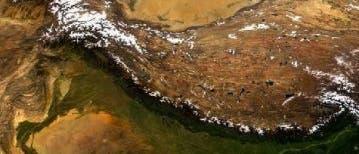 Himalaja und Tibet aus dem All betrachtet