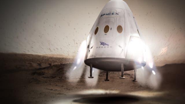 Dragon-Raumkapsel landet auf dem Mars