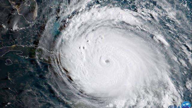 Hurrikan Irma zwischen Kuba und Florida