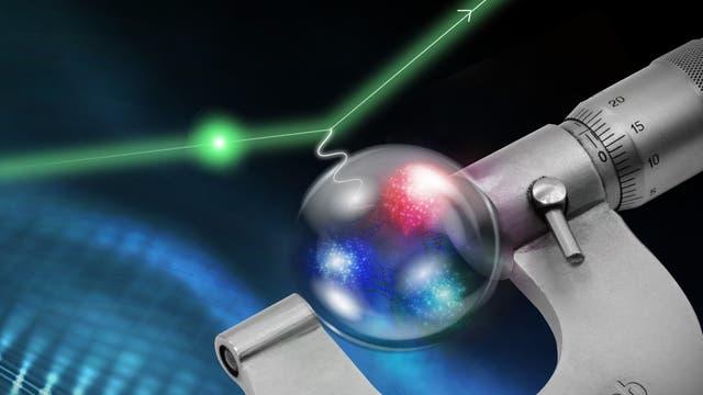 Messung des Protonradius (Symbolbild)