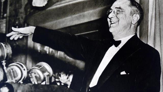 Franklin D. Roosevelt um das Jahr 1936