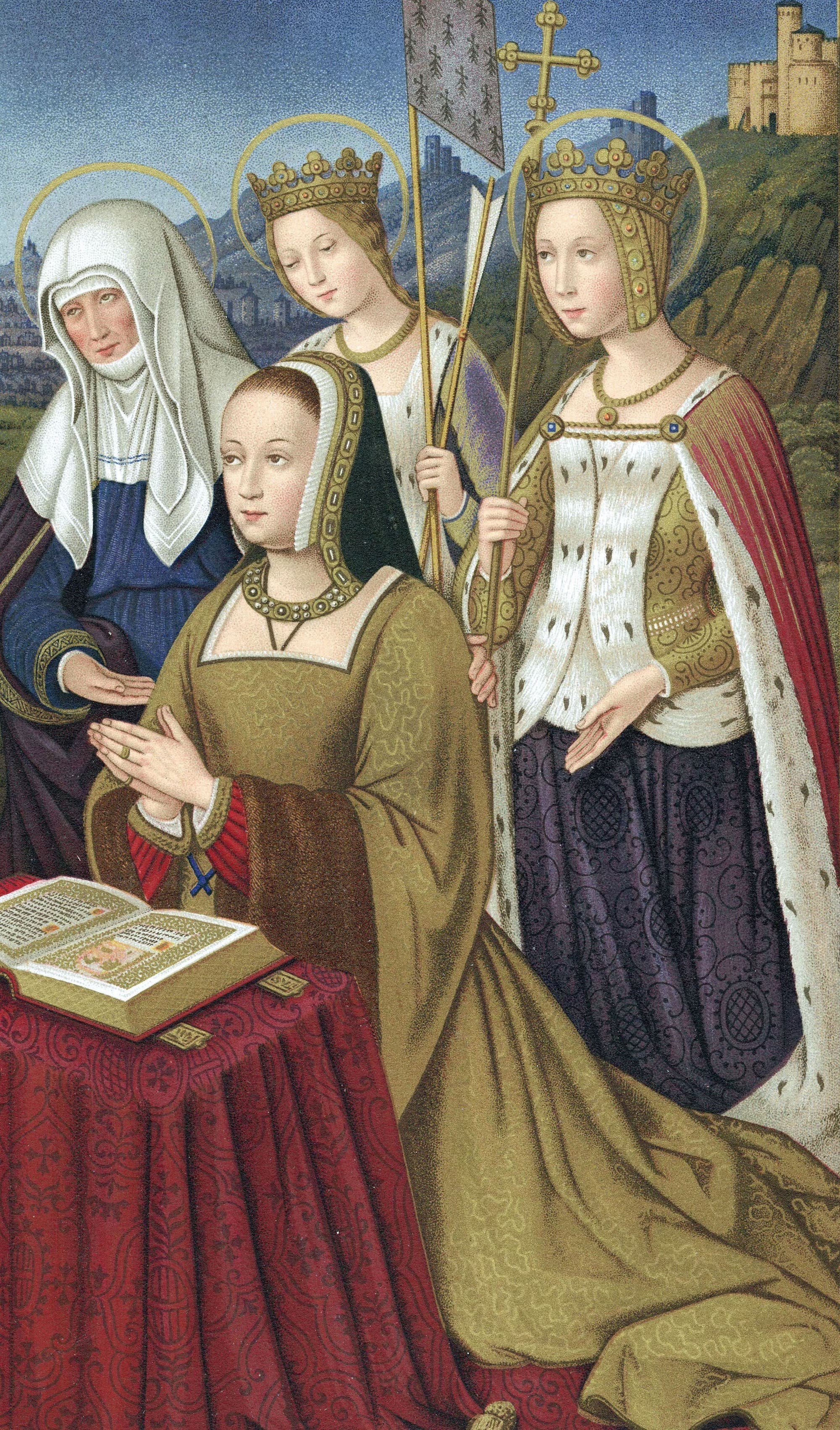 Anne de Bretagne in einem kolorierten Stich