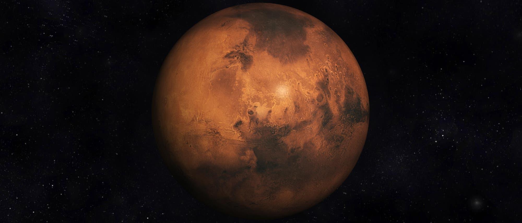 Der Mars bekommt Besuch: Die arabische Sonde »Al-Amal« ist eine von drei Missionen, die vor wenigen Monaten zum Roten Planeten aufgebrochen sind.