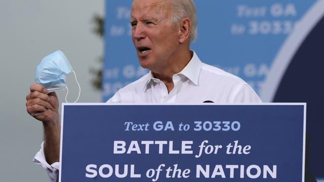 Joe Biden auf einer Wahlkampfveranstalung in Atlanta
