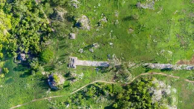 Eine weiße Straße der Maya verband einst die Städte Cobá und Yaxuná.