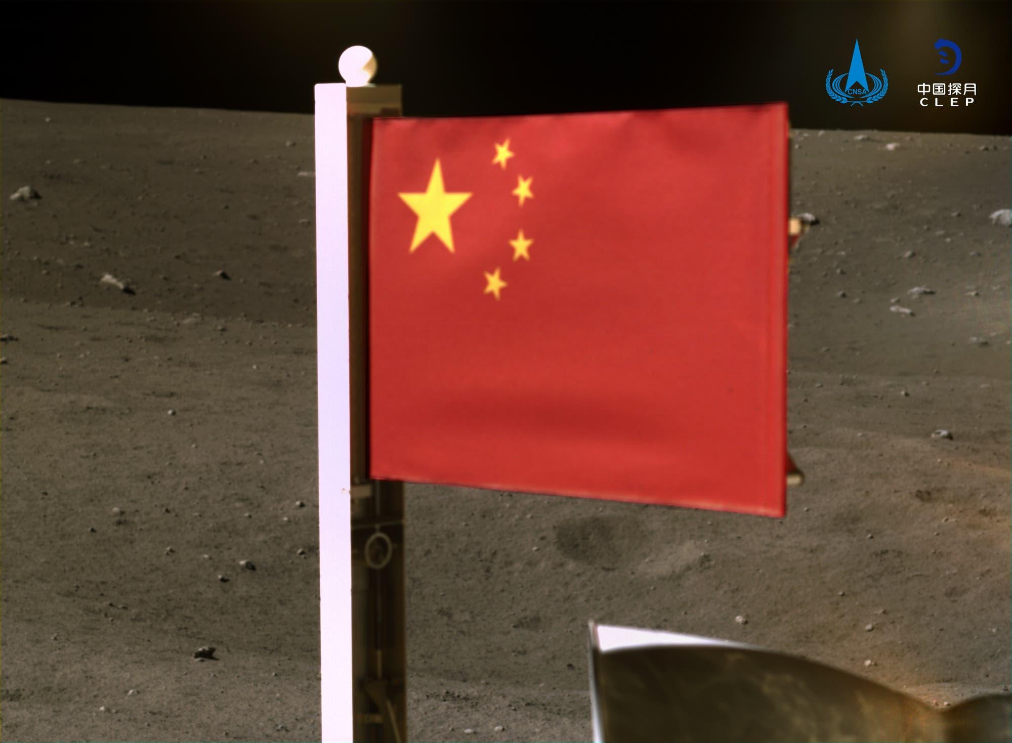Chinesische Flagge von Chang'e 5