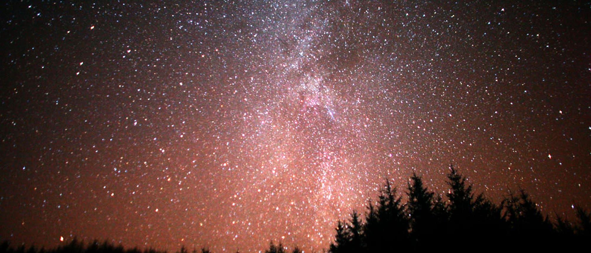 Nachthimmel über Schottland vom 17. auf 18. Dezember 2020