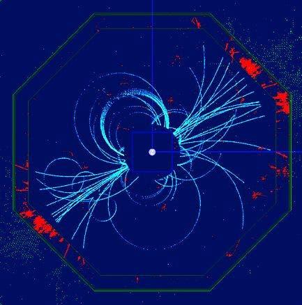 Simulation eines Higgs-Ereignisses im ILC