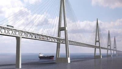 Fehmarnbelt-Brücke im Modell