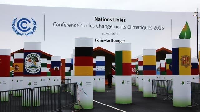 Eingang zur Klimakonferenz von Paris