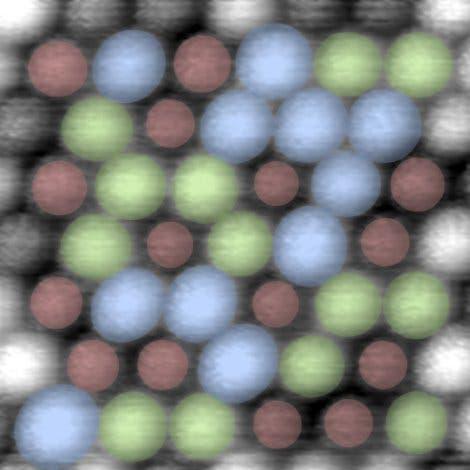 Anordnung der Atome