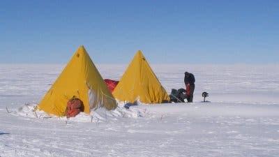 Zeltlager auf dem Whillans-Eisstrom