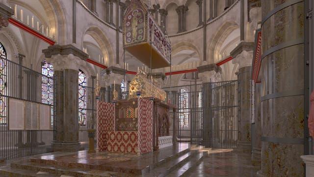 Der Schrein in der Kathedrale von Canterbury