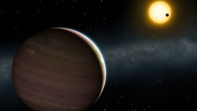 Künstlerischer Blick auf das stark interagierende exoplanetare System WASP-148.