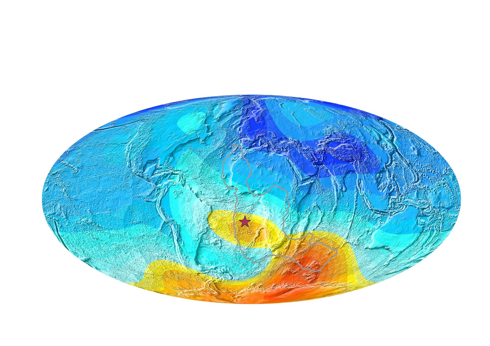 Erdmagnetfeld (Abweichung von einem klassischen Dipolfeld)