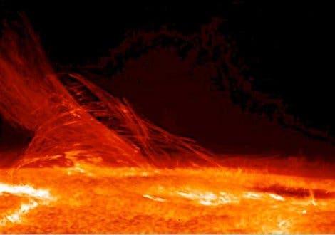 Sonnenplasma ind der Chromosphäre