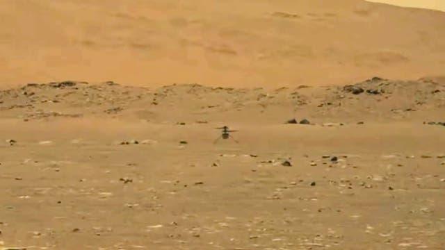 Ingenuity, aufgenommen vom Mars-Rover Perseverance