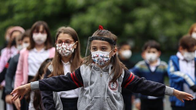 Türkische Schulkinder beginnen am 1.Juni wieder mit dem Präsenzunterricht