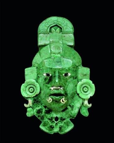 Jademaske eines unbekannten Herrschers