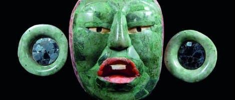Jademaske eines unbekannten Maya-Herrschers