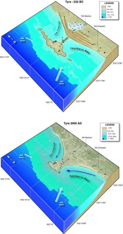 Küstenentwicklung bei Tyros