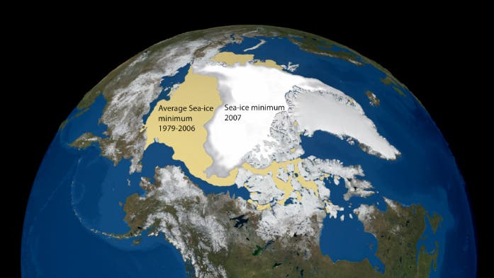 Rückgang des arktischen Meereis