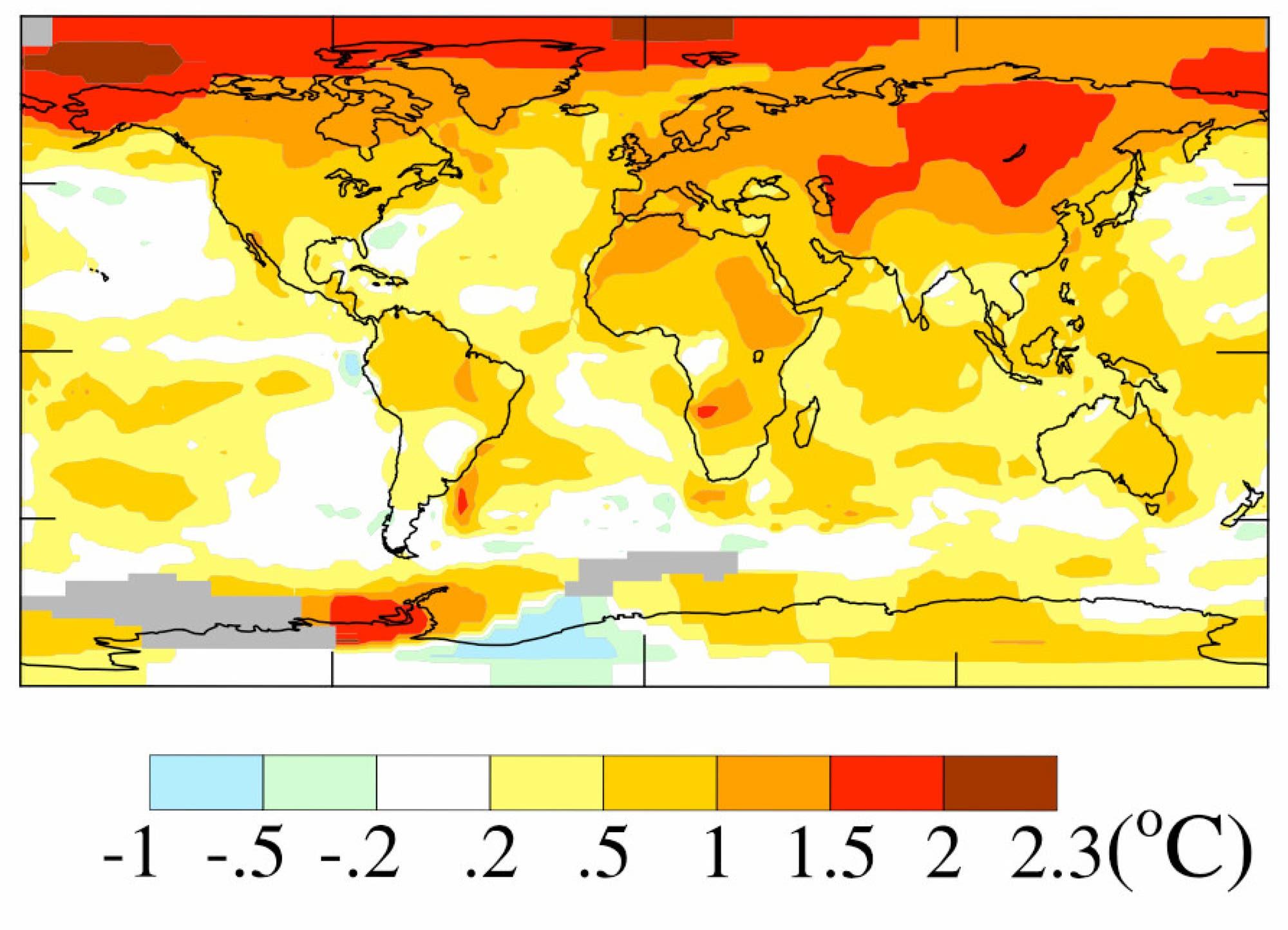 Globale Temperaturveränderungen