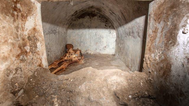 Skelett des Marcus Venerius Secundio