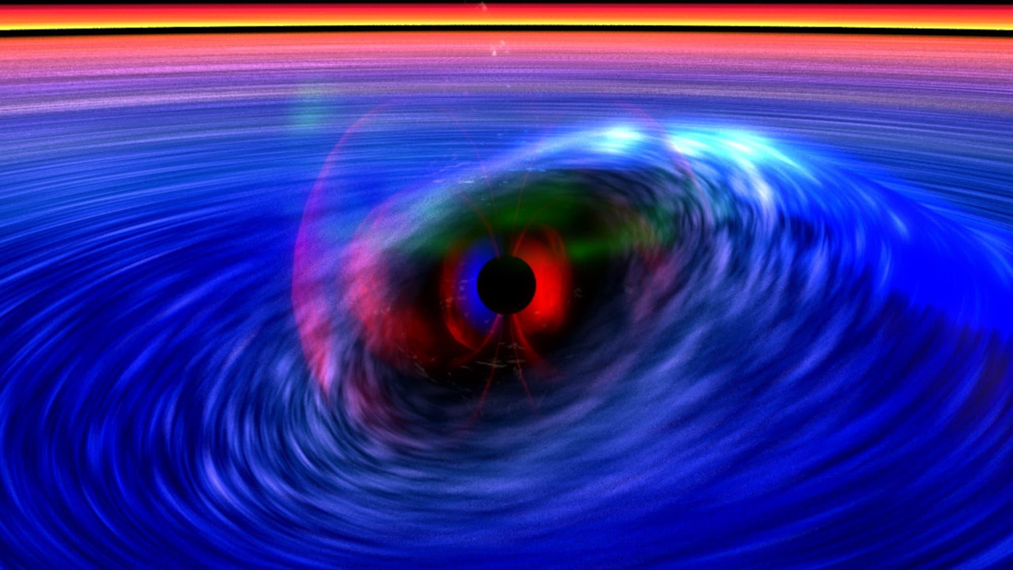 Heißes Gas umkreist Schwarzes Loch