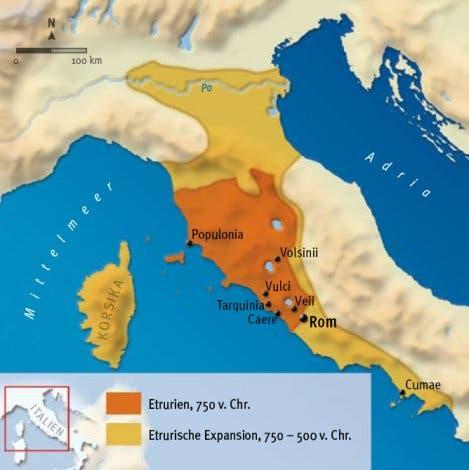 Ausbreitung der Etrusker