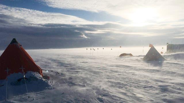 Thwaites-Gletscher bei besserem Wetter