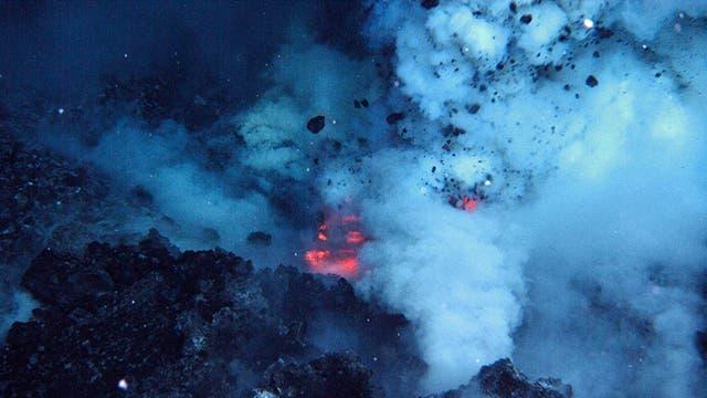 Ausbruch des West Mata Vulkan im Pazifik im Jahr 2009